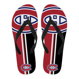 Montreal Canadiens Fan Gift Two Main Colors Flip Flops
