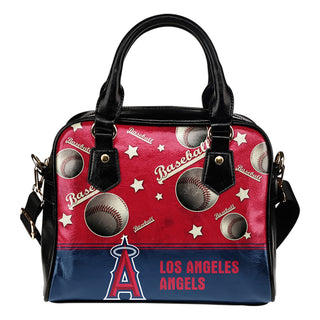 Personalized American Baseball Awesome Los Angeles Angels Shoulder Handbag