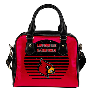 Back Fashion Round Charming Louisville Cardinals Shoulder Handbags
