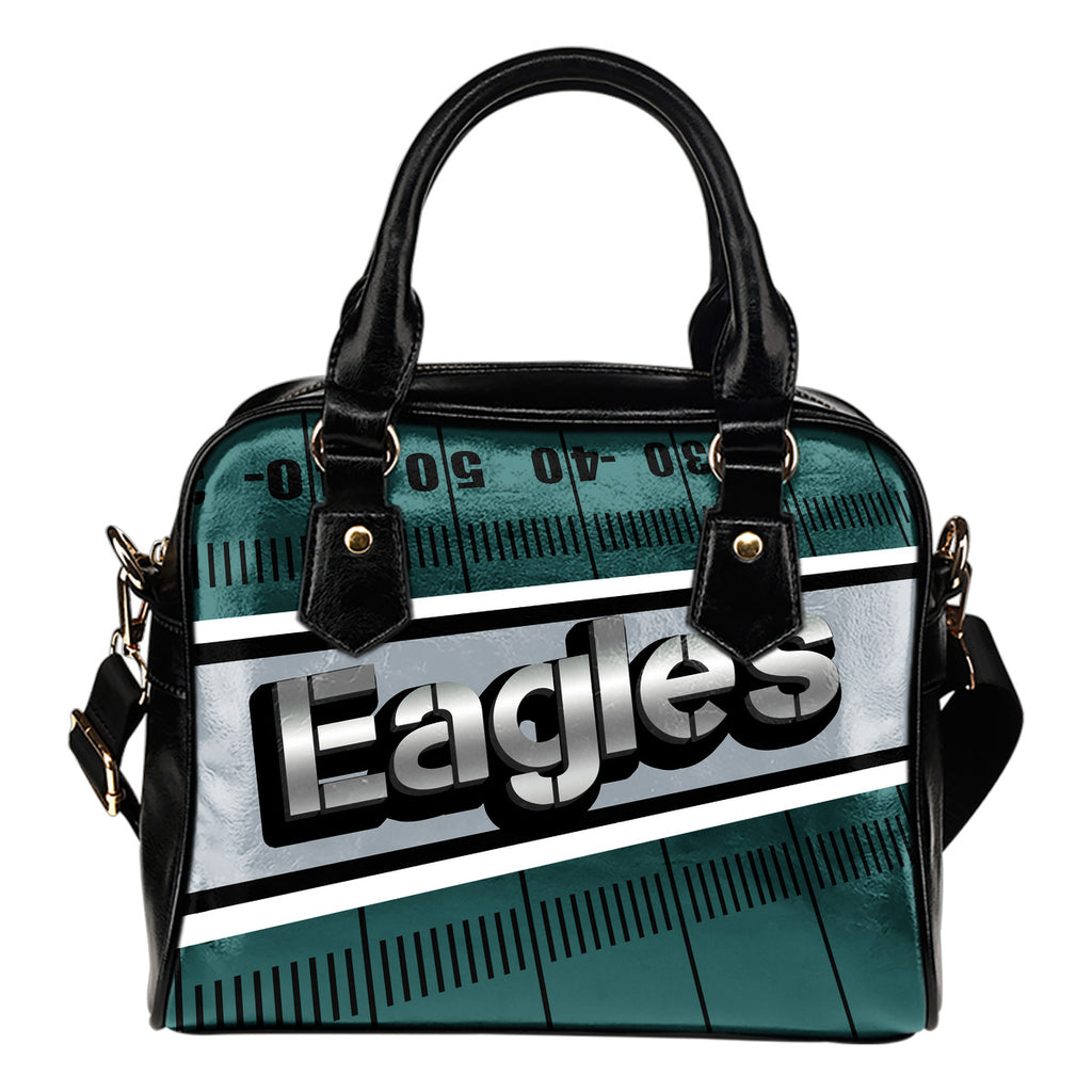 Philadelphia Eagles Silver Name Colorful Shoulder Handbags