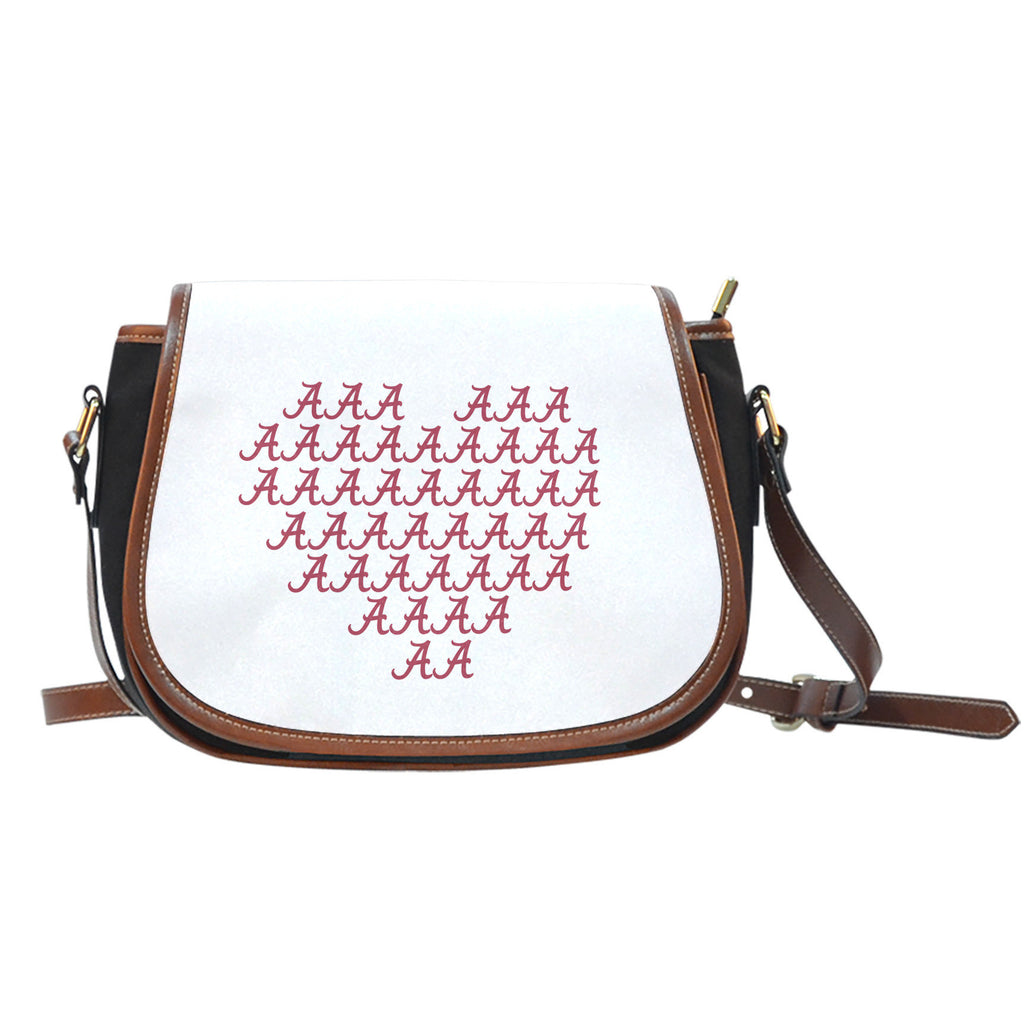 Alabama Crimson Tide Heart Logo Saddle Bags - Best Funny Store