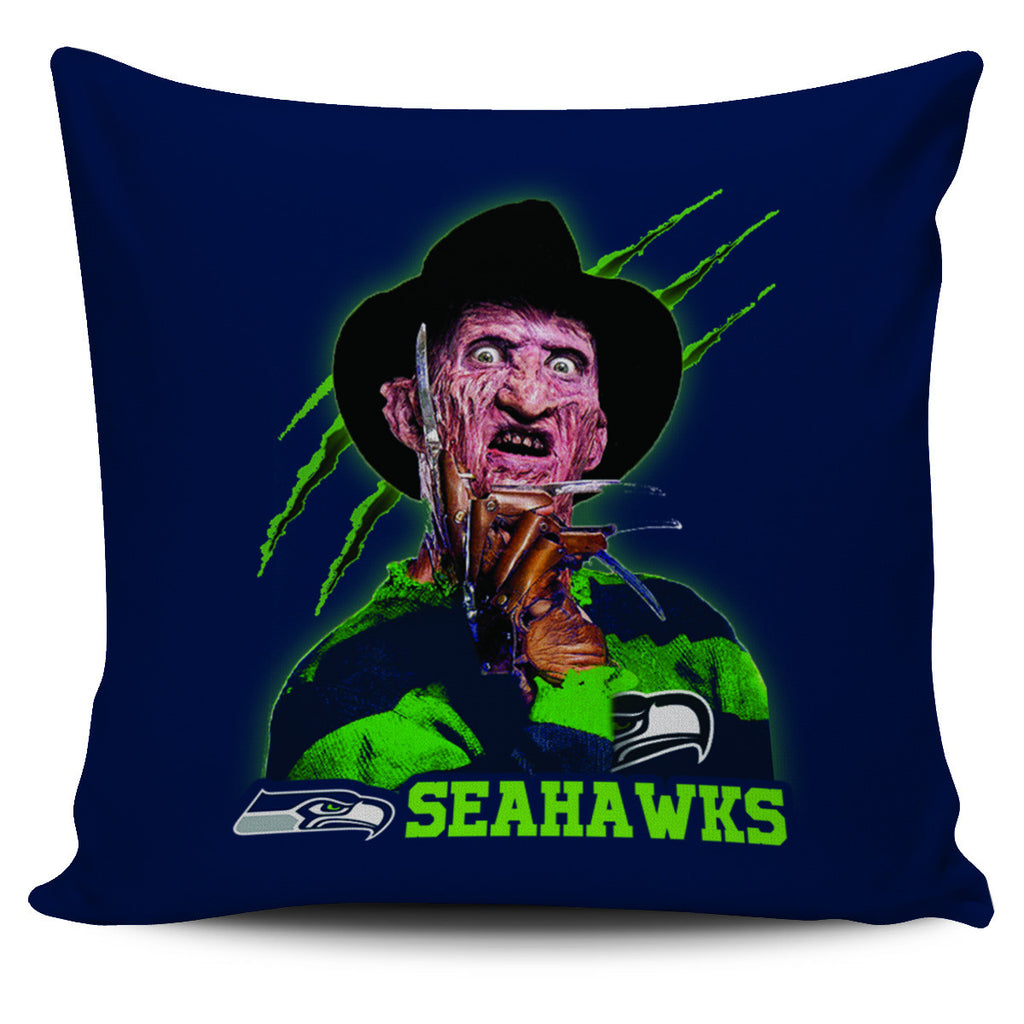 Freddy Seattle Seahawks Pillow Covers - Best Funny Store