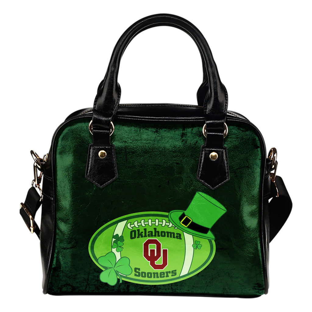 Signal Patrick's Day Pleasant Oklahoma Sooners Shoulder Handbags