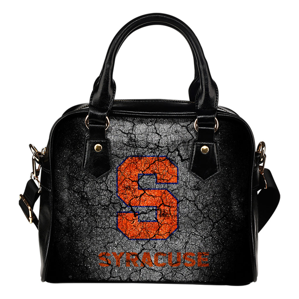 Wall Break Syracuse Orange Shoulder Handbags Women Purse