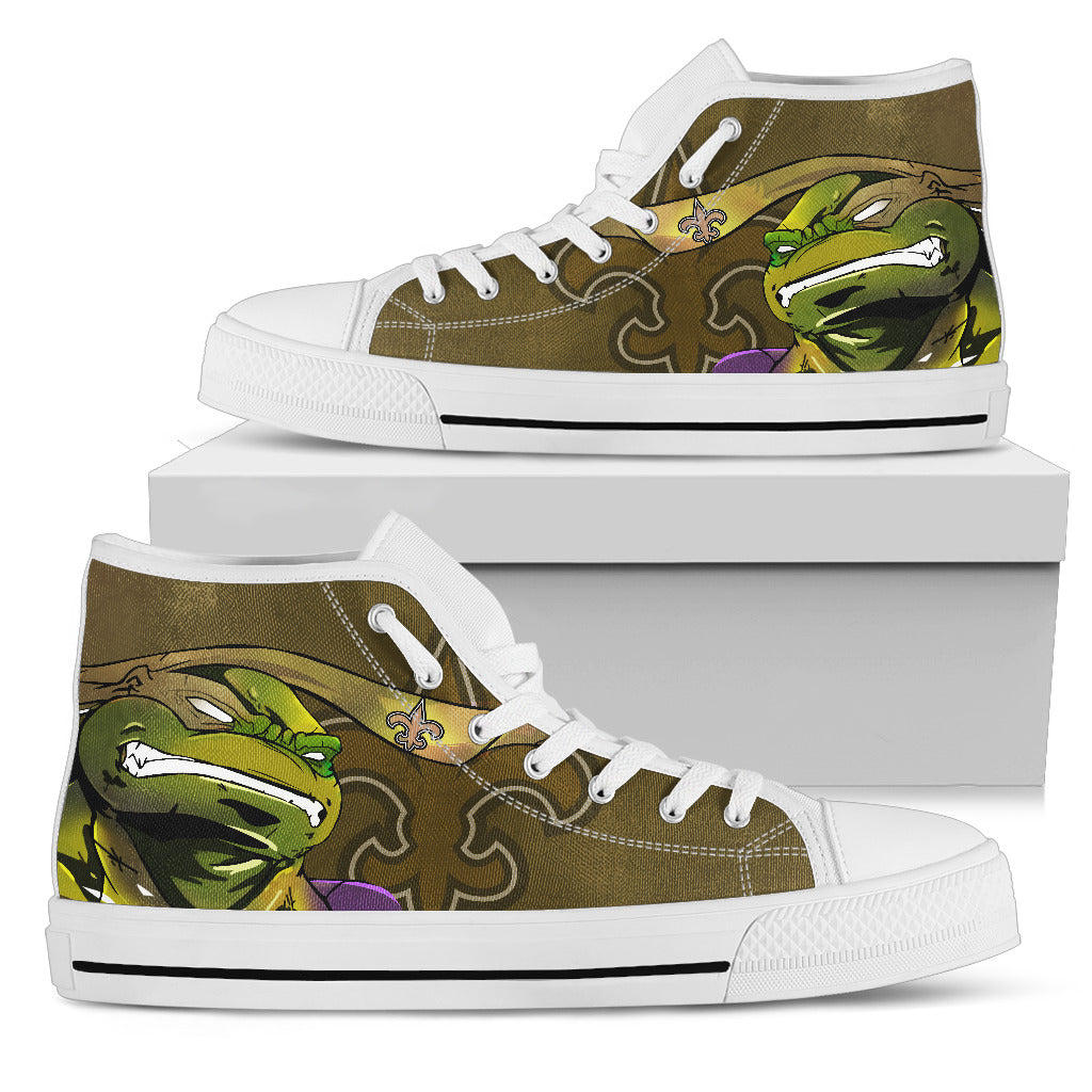 Turtle New Orleans Saints Ninja High Top Shoes