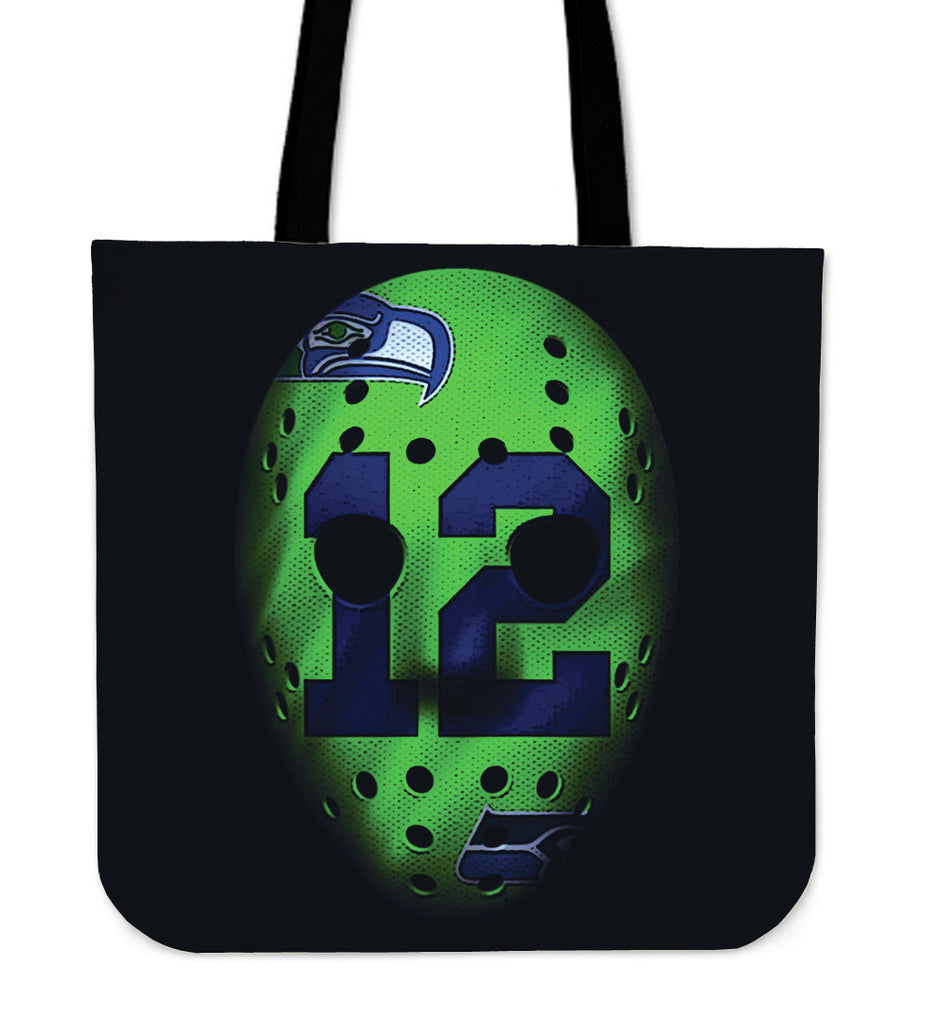 War Mask Seattle Seahawks Tote Bag - Best Funny Store