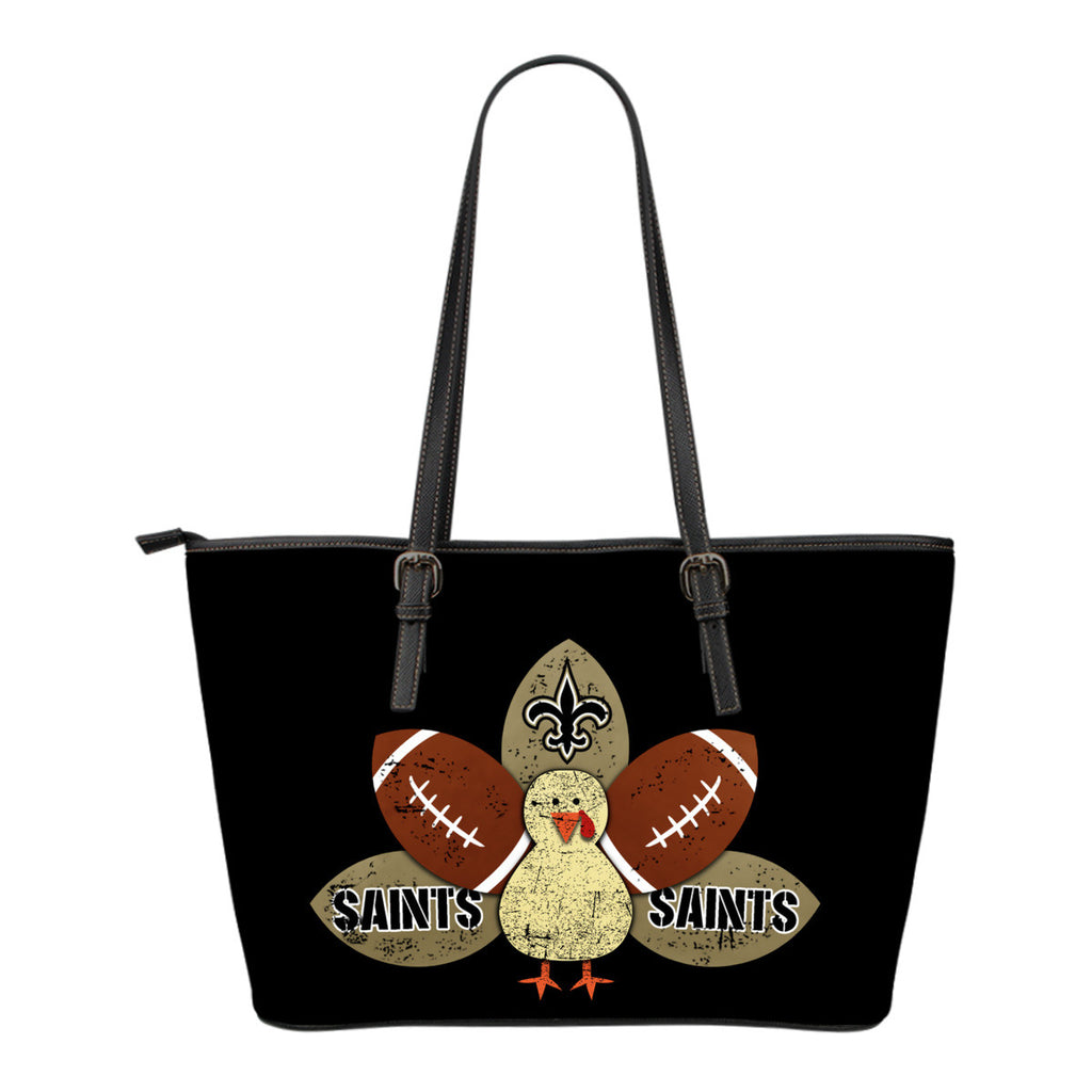 Thanksgiving New Orleans Saints Leather Bags - Best Funny Store