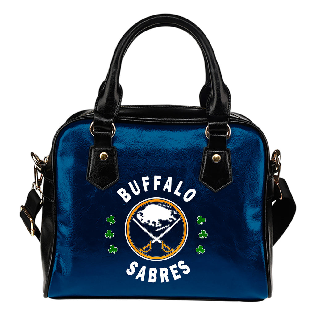 Central Beautiful Logo Circle Lucky Leaf Buffalo Sabres Shoulder Handbags
