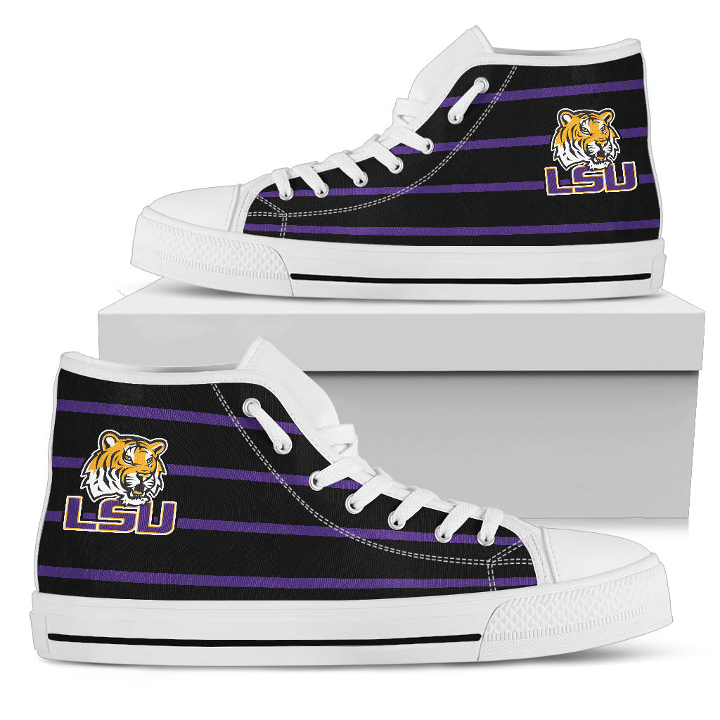 Edge Straight Perfect Circle LSU Tigers High Top Shoes