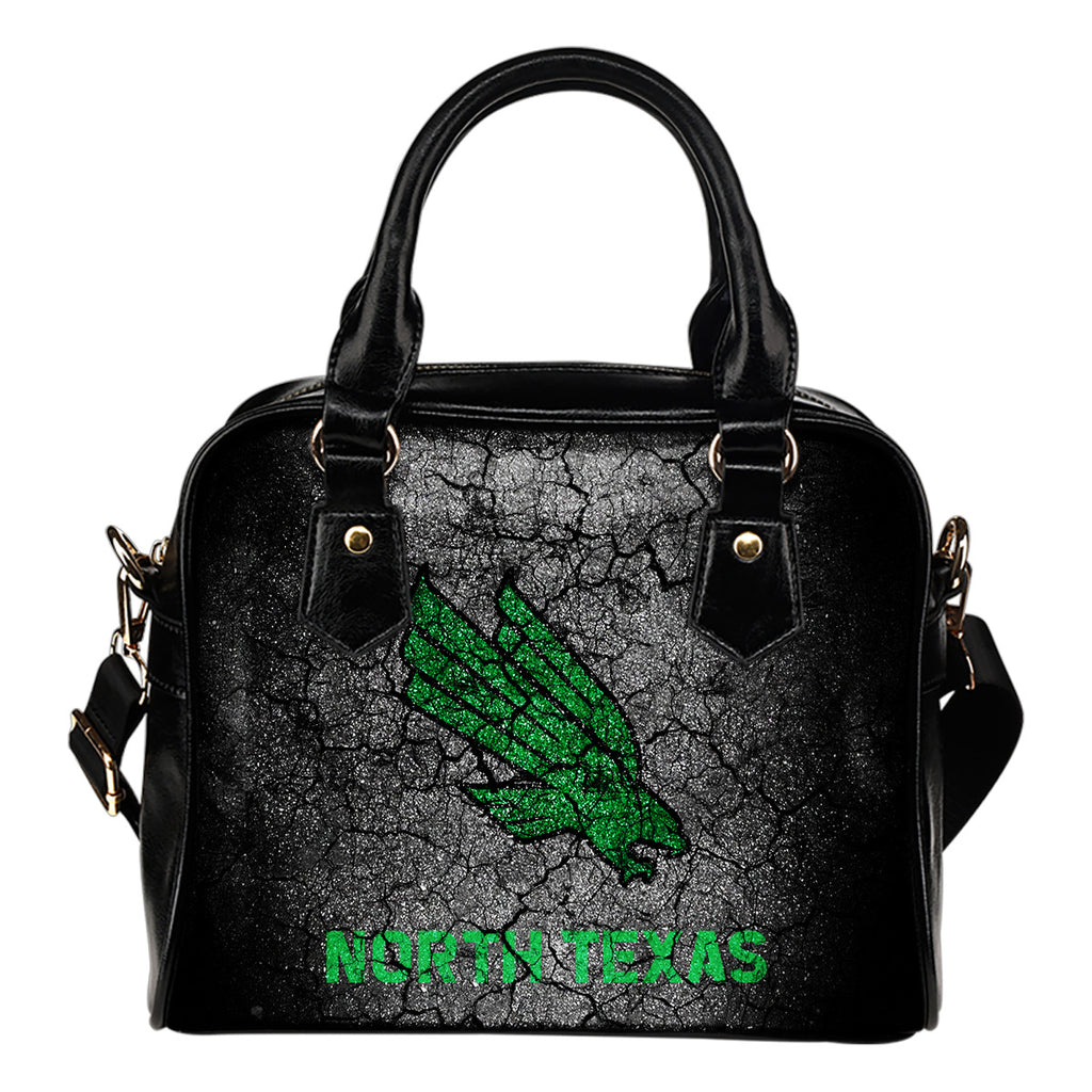 Wall Break North Texas Mean Green Shoulder Handbags Women Purse