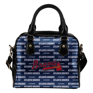 Nice Little Logo Atlanta Braves Shoulder Handbags