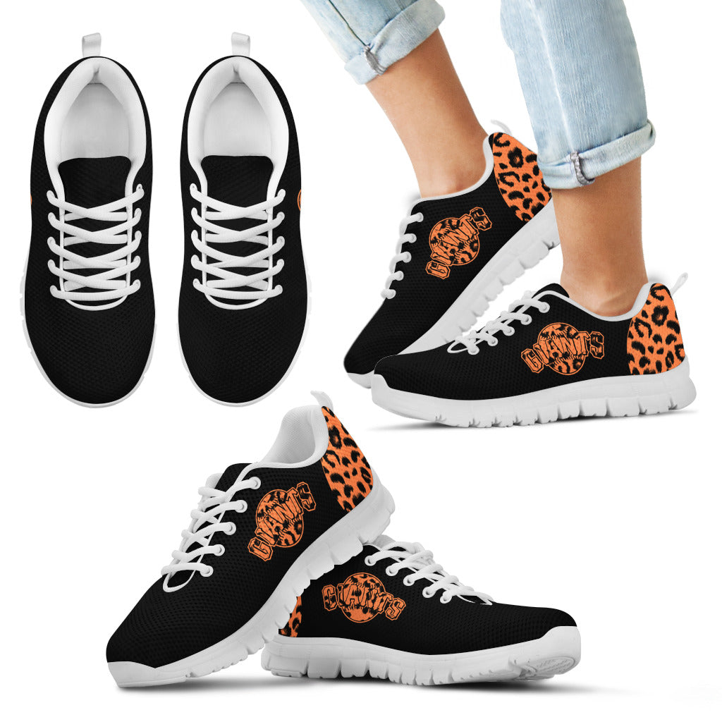 Cheetah Pattern Fabulous San Francisco Giants Sneakers