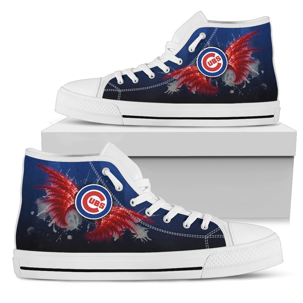 Angel Wings Chicago Cubs High Top Shoes