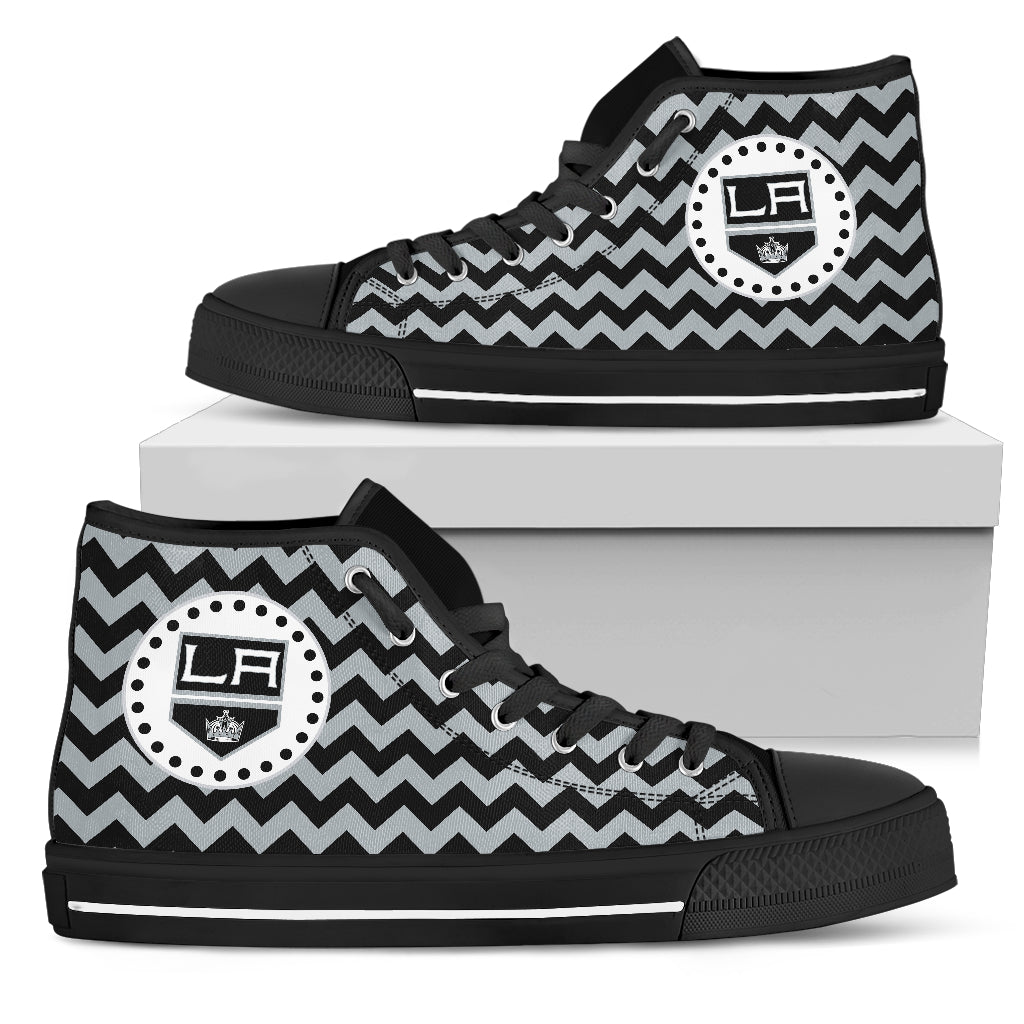 Chevron Broncos Los Angeles Kings High Top Shoes