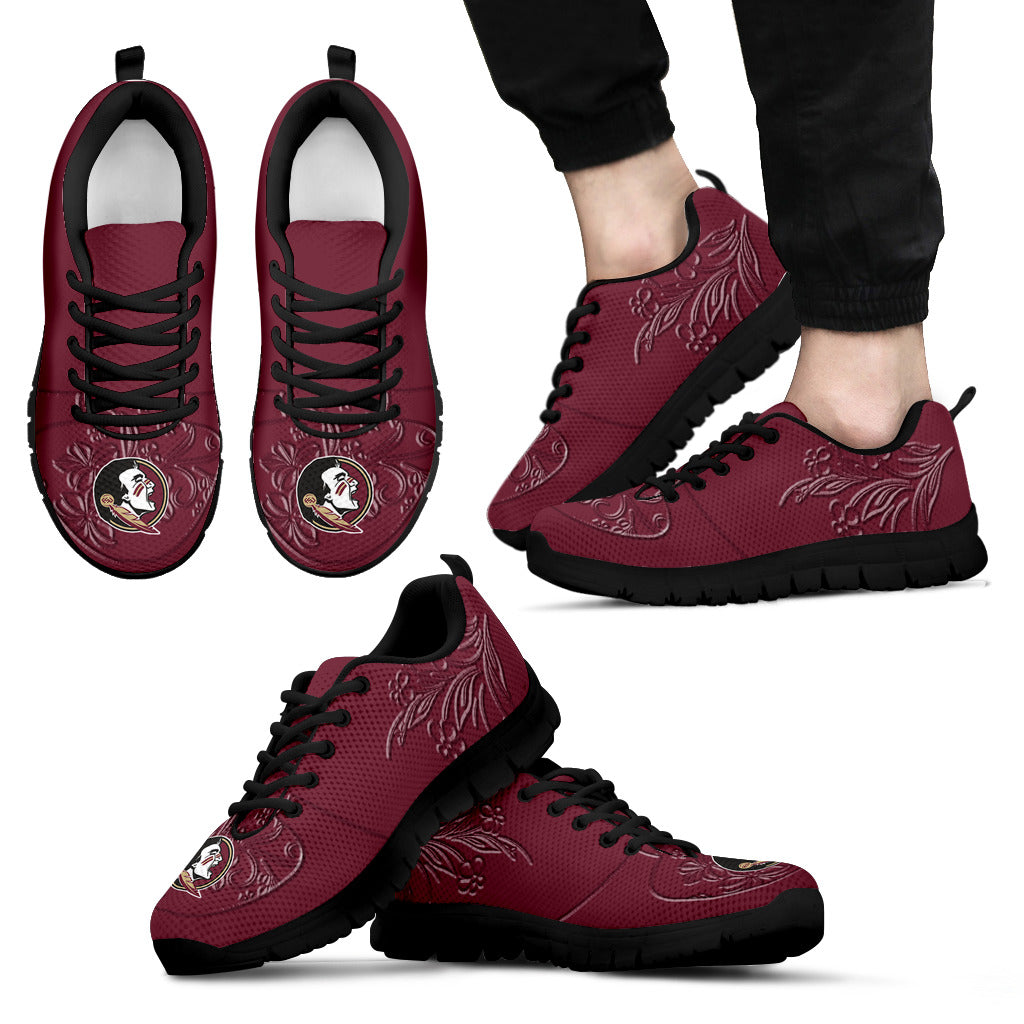 Lovely Floral Print Florida State Seminoles Sneakers