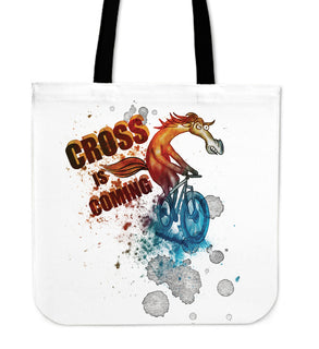 Cycling - Cross Is Coming Tote Bags V1