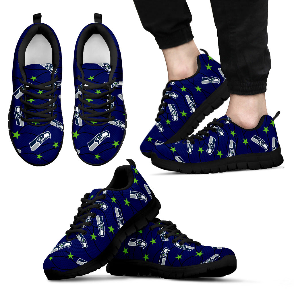 Star Twinkle Night Seattle Seahawks Sneakers