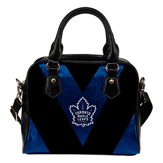 Triangle Double Separate Colour Toronto Maple Leafs Shoulder Handbags
