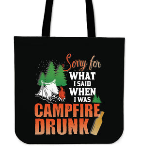 I'm Sorry For What I Said Camping Tote Bags