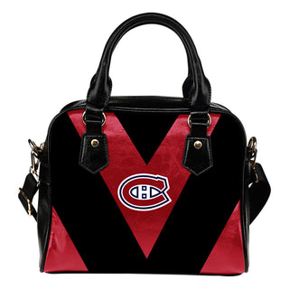 Triangle Double Separate Colour Montreal Canadiens Shoulder Handbags
