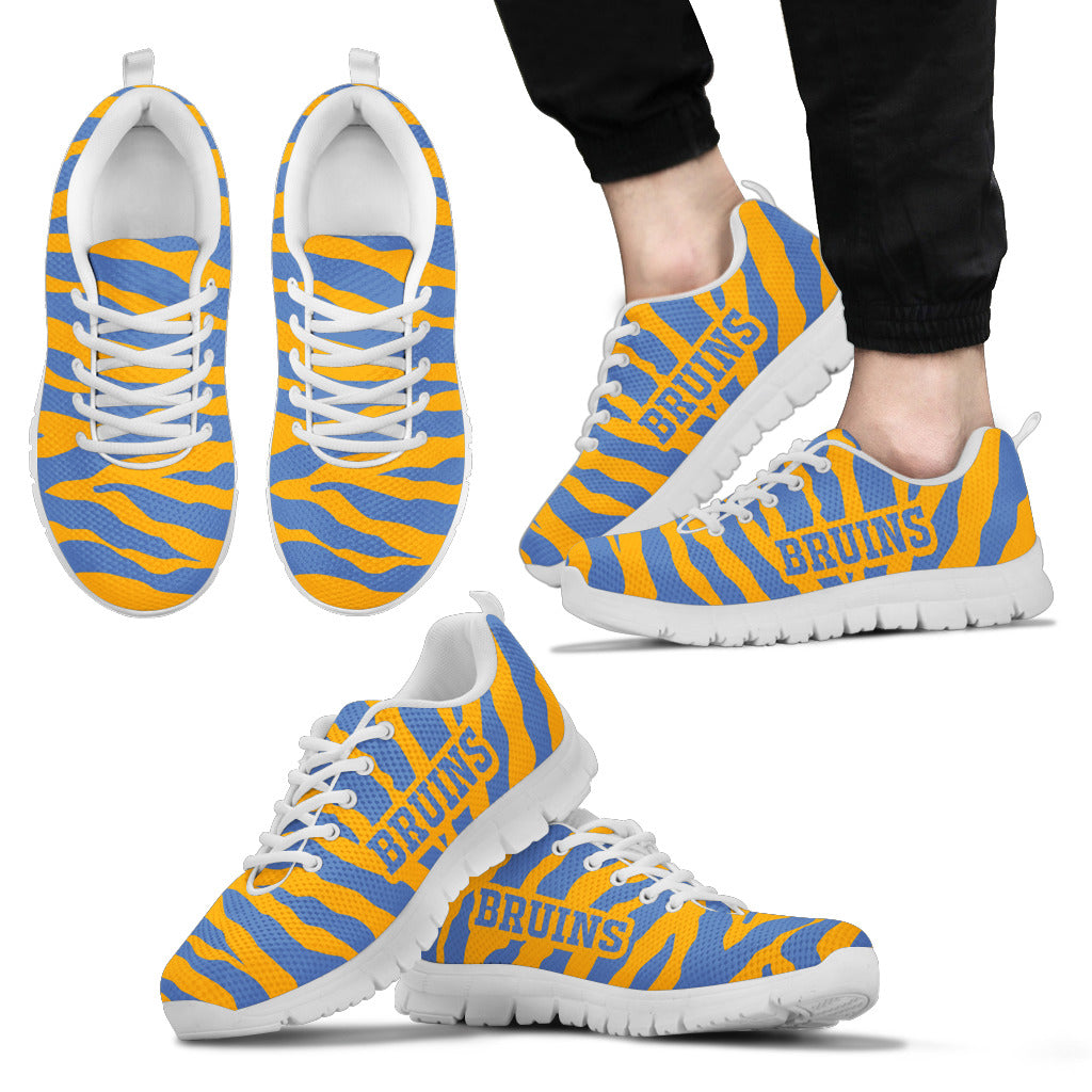 Tiger Skin Stripes Pattern Print UCLA Bruins Sneakers