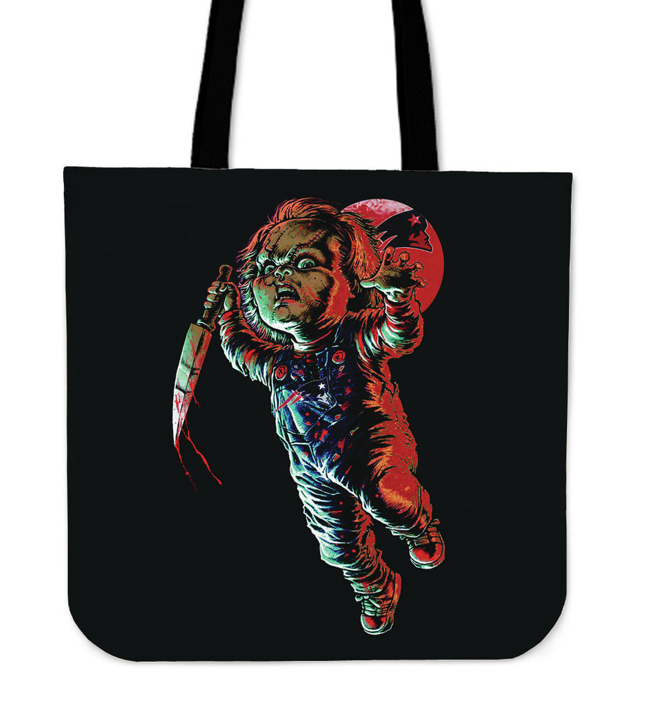 Chucky New England Patriots Tote Bag - Best Funny Store