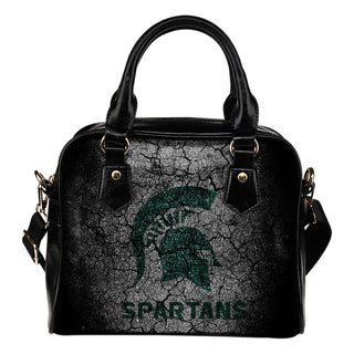 Wall Break Michigan State Spartans Shoulder Handbags Women Purse