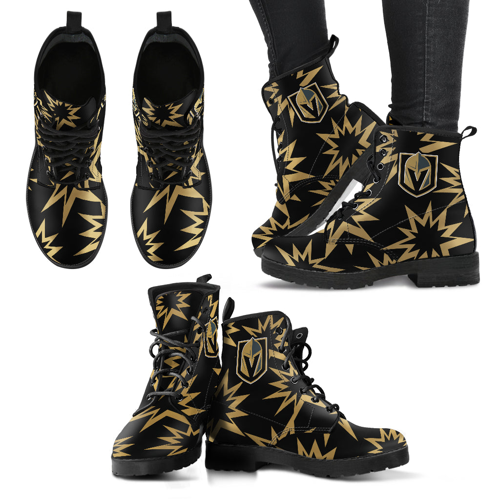 Dizzy Motion Amazing Designs Logo Vegas Golden Knights Boots