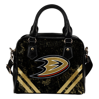 Couple Curves Light Good Logo Anaheim Ducks Shoulder Handbags