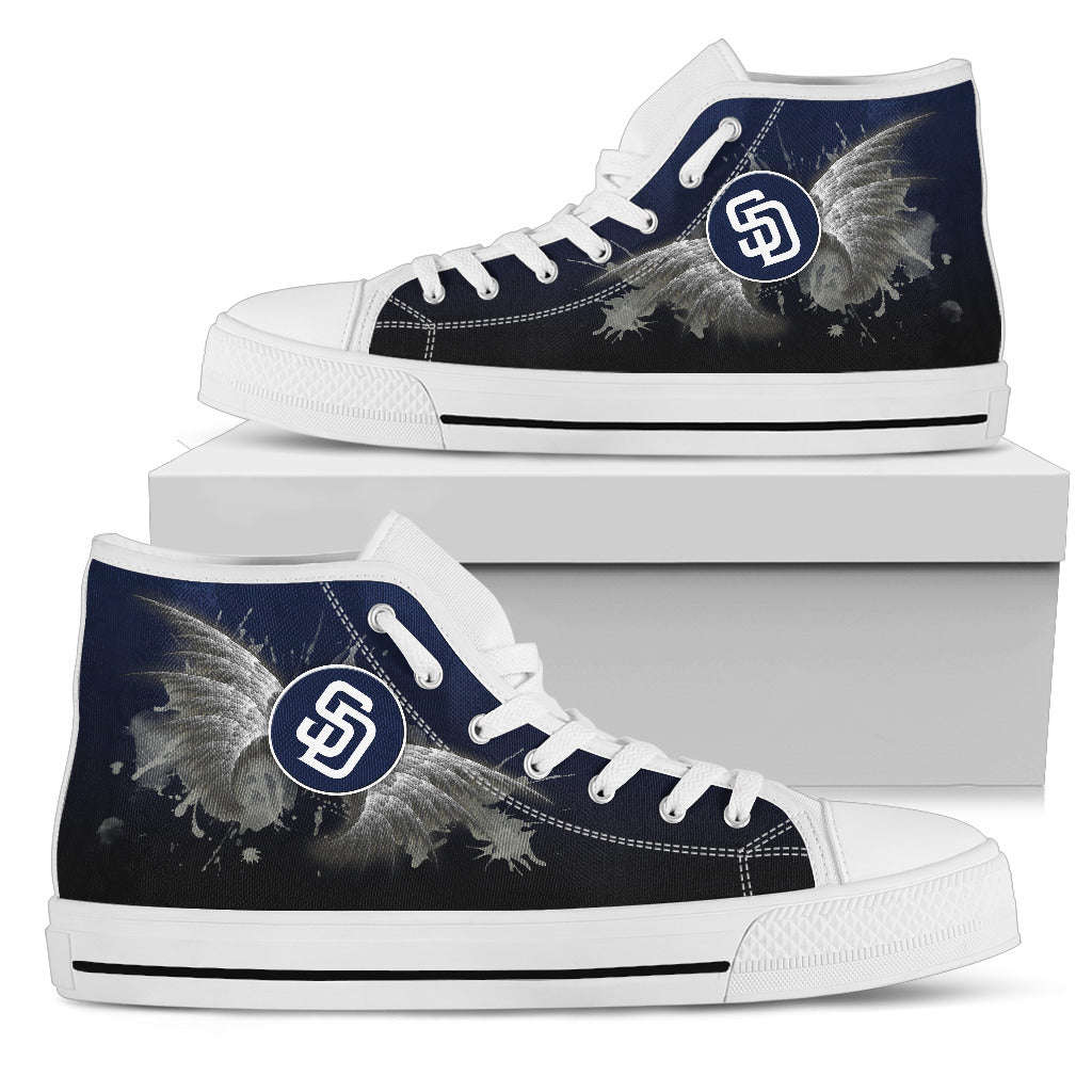 Angel Wings San Diego Padres High Top Shoes
