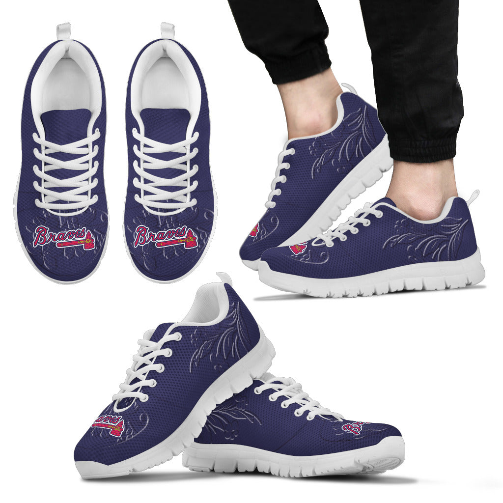 Lovely Floral Print Atlanta Braves Sneakers