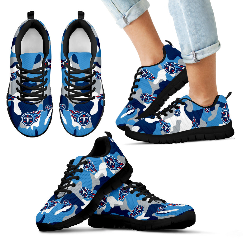 reputable site abe52 06661 Tennessee Titans Cotton Camouflage Fabric Military Solider Style Sneakers