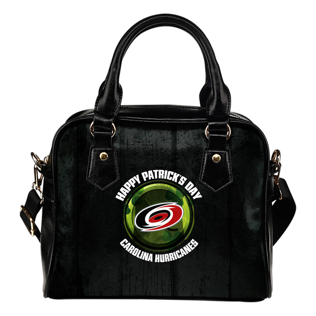 Retro Scene Lovely Shining Patrick's Day Carolina Hurricanes Shoulder Handbags