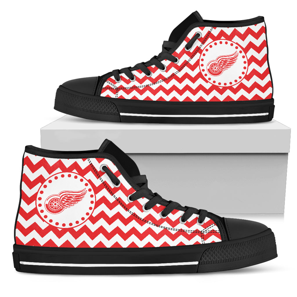 Chevron Broncos Detroit Red Wings High Top Shoes