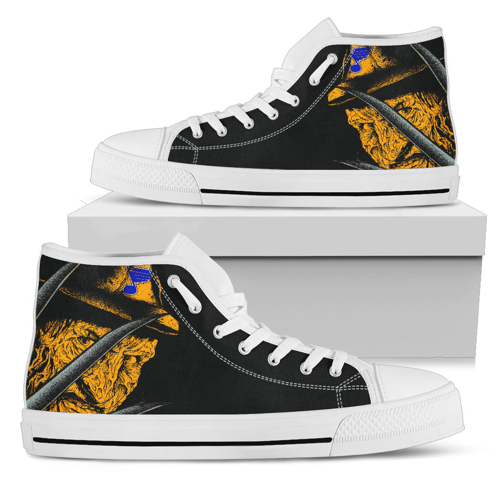 St. Louis Blues Nightmare Freddy Colorful High Top Shoes