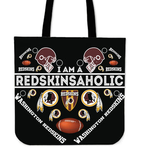 I Am A Redskinsaholic Washington Redskins Tote Bags