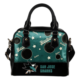 Personalized American Hockey Awesome San Jose Sharks Shoulder Handbag