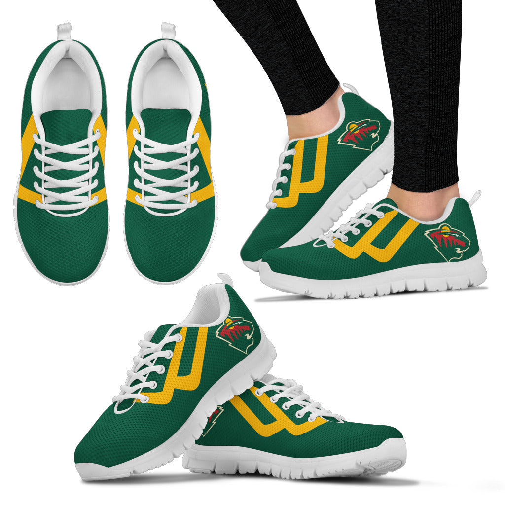 Line Bottom Straight Minnesota Wild Sneakers