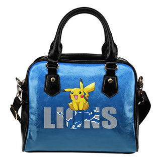 Pokemon Sit On Text Detroit Lions Shoulder Handbags
