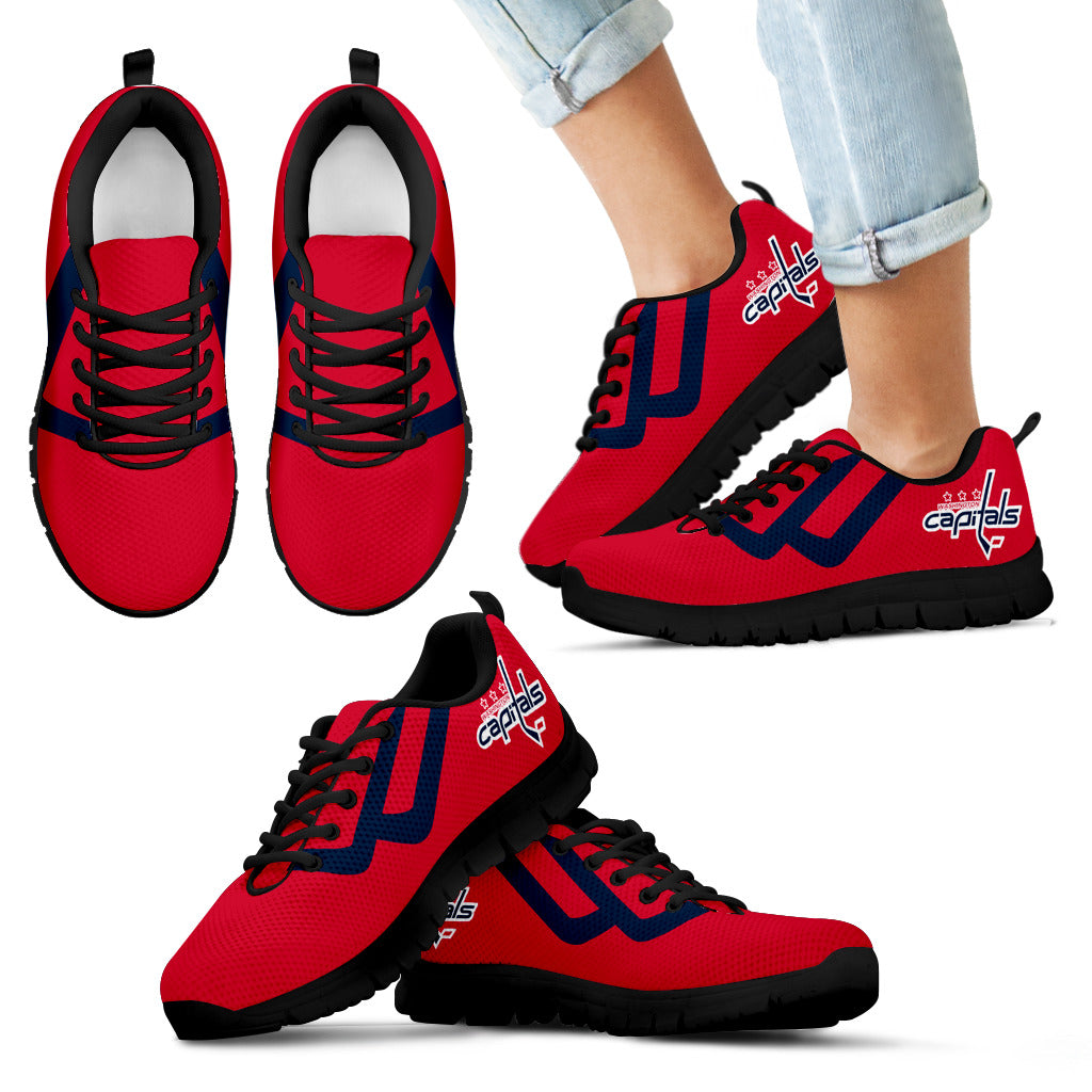 Line Bottom Straight Washington Capitals Sneakers