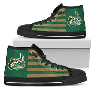 American Flag Charlotte 49ers High Top Shoes