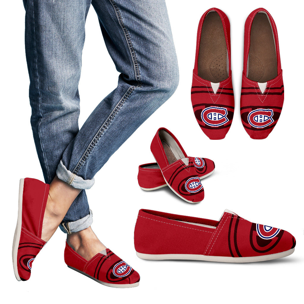 Enormous Logo Mix Tiny Logo Fantastic Montreal Canadiens Casual Shoes