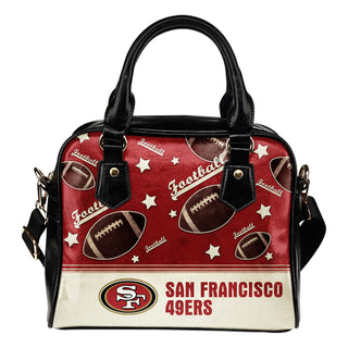 Personalized American Football Awesome San Francisco 49ers Shoulder Handbag
