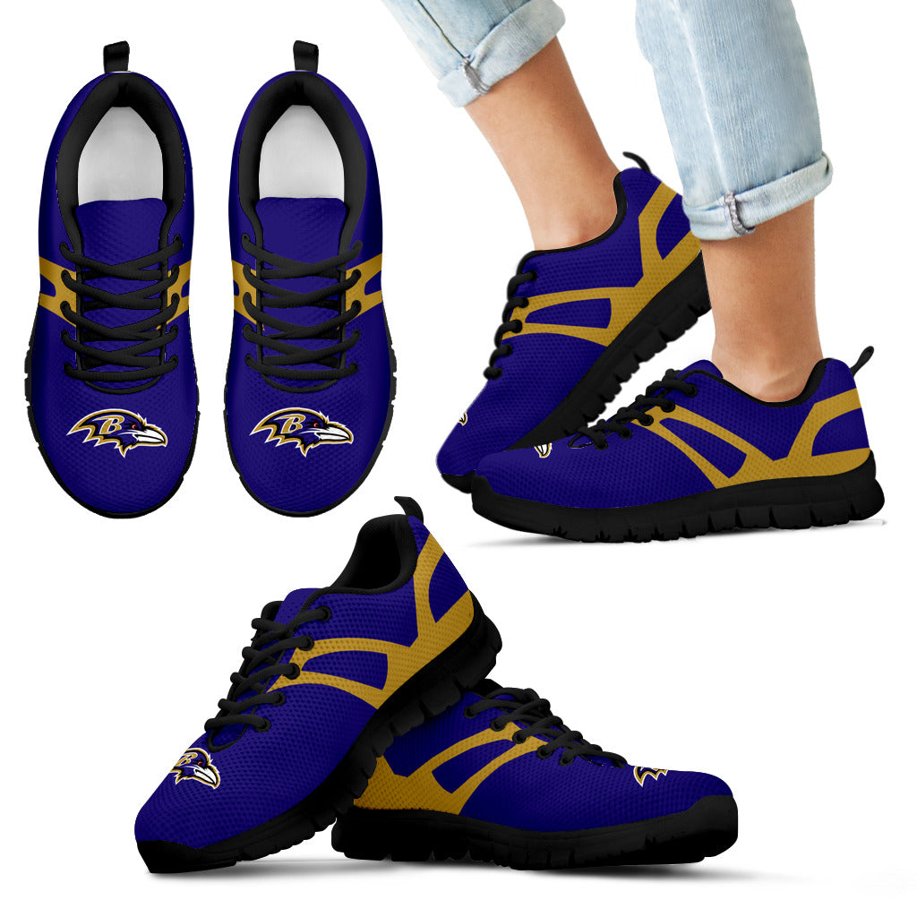 Line Amazing Bottom Baltimore Ravens Sneakers