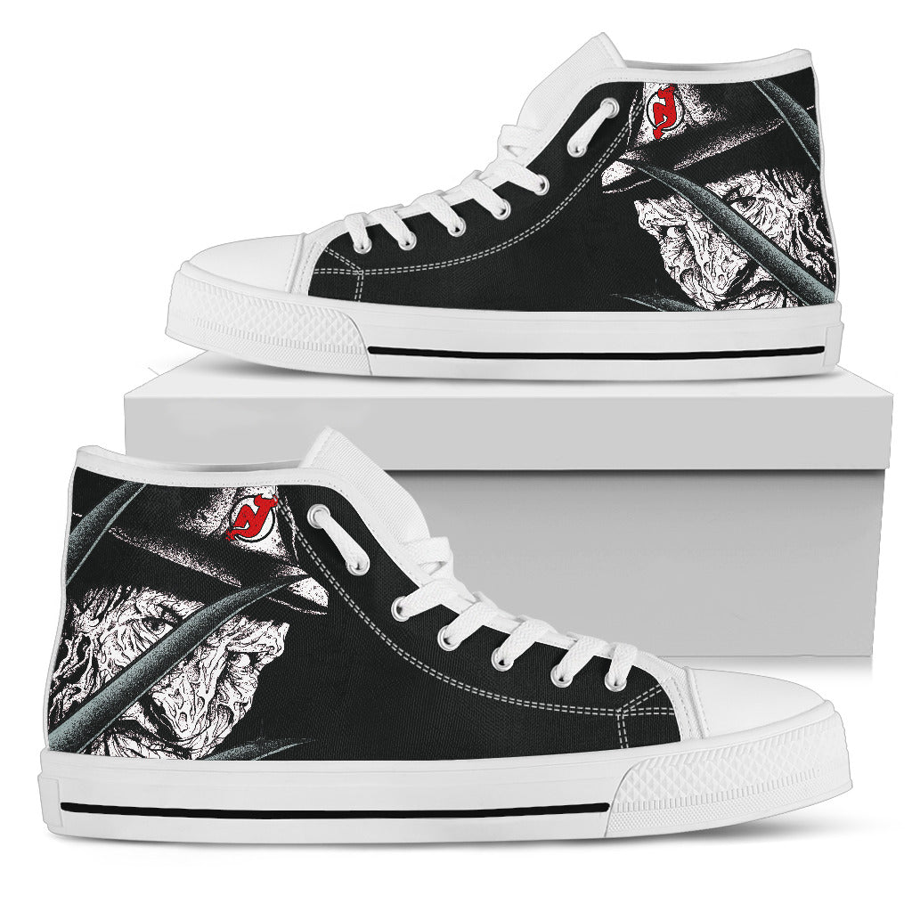 New Jersey Devils Nightmare Freddy Colorful High Top Shoes