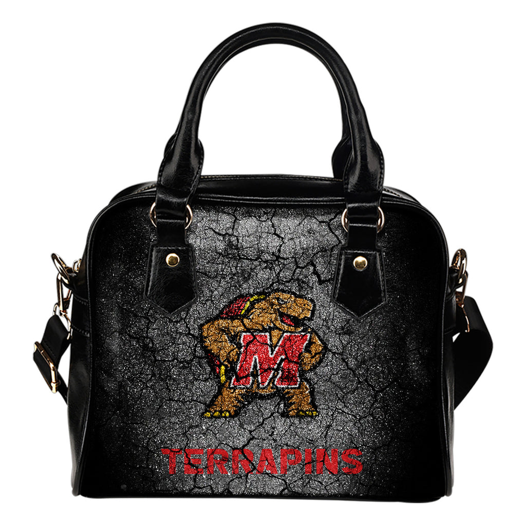 Wall Break Maryland Terrapins Shoulder Handbags Women Purse