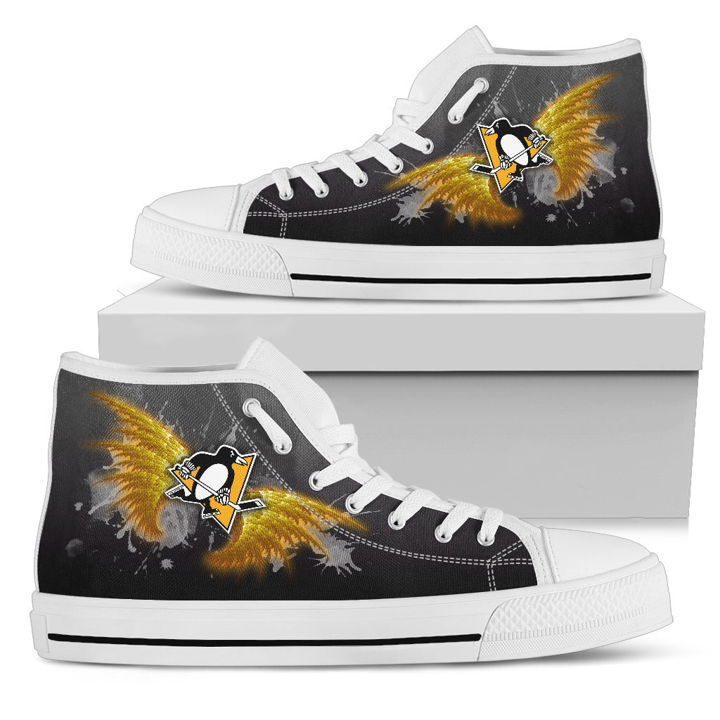 Angel Wings Pittsburgh Penguins High Top Shoes