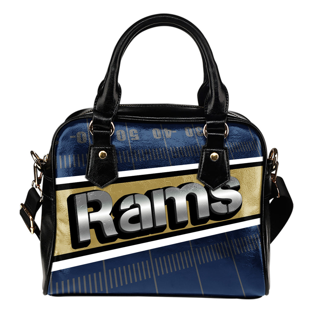 Los Angeles Rams Silver Name Colorful Shoulder Handbags
