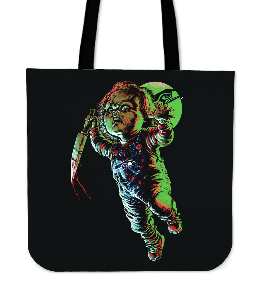 Chucky Seattle Seahawks Tote Bag - Best Funny Store