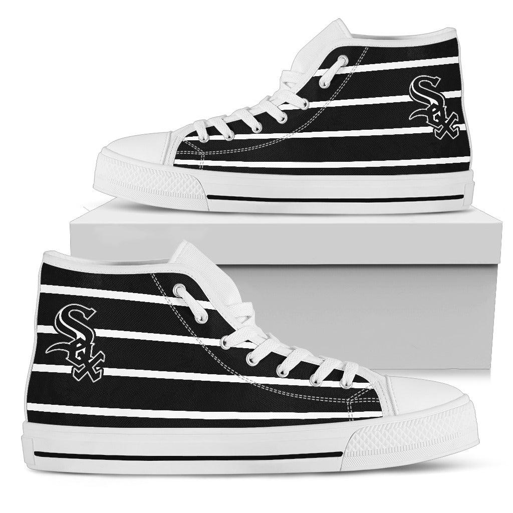 Edge Straight Perfect Circle Chicago White Sox High Top Shoes
